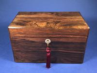 Victorian Single Lidded Rosewood Tea Caddy (6 of 13)