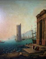 After Claude Lorrain Huge Superb 19th Century Venice Seascape Oil Painting (14 of 22)