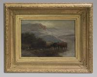 W Thomas - Pair Of Cattle Scenes - 19thc Oil On Canvas's (4 of 5)