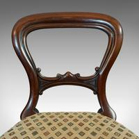 Antique Set of 6 Dining Chairs, English, Walnut, Balloon Back, Victorian c.1850 (7 of 12)