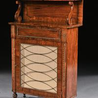 Fine Regency Brass Inlaid Rosewood Chiffonier Of Narrow Proportions (4 of 7)