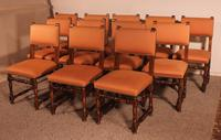 Set of 12 Louis XIII Style Walnut Chairs (2 of 11)