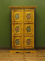 Vintage Indian Folk Art Bohemian Painted Cabinet Larder Linen Press Cupboard (13 of 13)