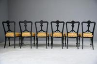 6 Victorian Aesthetic Movement Dining Chairs (9 of 13)