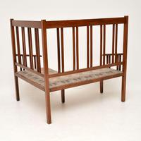 Antique Arts & Crafts Solid Walnut Corner Settee from Liberty of London (6 of 11)