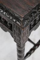 Small Antique Victorian Gothic Revival Oak Hall Table (9 of 13)