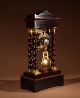 Original Antique Inlaid French Portico Clock c.1870 (6 of 8)