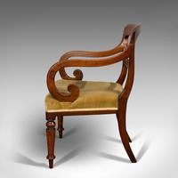 Antique Serpentine Armchair, English, Mahogany, Elbow Seat, Regency c.1820 (6 of 11)