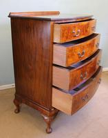 Antique Bow Front Figured Walnut Chest of Drawers (10 of 11)