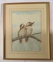 Neville Henry Cayley - Pair of Watercolours of Kookaburras (3 of 7)