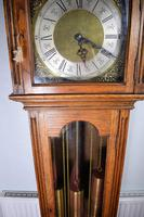 Light Honey Coloured Oak Glass Fronted Grandfather or Grandmother with British  8 Day Triple Weight Quarter Chiming Westminster Musical Longcase (2 of 9)