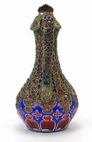 Good Biedermeier Bohemian Overlaid Glass Ewer (6 of 6)