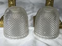 Pair of Victorian Clarke's Cricklite Gilt Bronze Cut Glass Domed Shades Fairy Lamps (6 of 12)