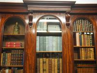 Victorian Mahogany Breakfront Cabinet Bookcase (6 of 19)