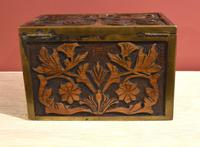 Continental 19th Century Carved Oak Casket Box (5 of 8)