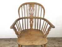 Antique Beech & Elm Windsor Armchair (3 of 7)