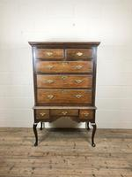 Antique 18th Century George II Oak Chest on Stand (M-652)