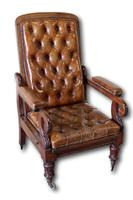 Victorian Mahogany Reclining Library Chair (6 of 7)