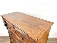 Large Victorian Oak & Mahogany Chest of Drawers (8 of 10)