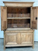Wonderful French Empire Period Bleached Oak Linen Press (20 of 32)