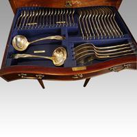 Edwardian Mahogany Canteen of Cutlery (3 of 9)