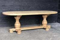 Bleached Oak Farmhouse Dining Table (8 of 12)