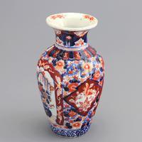 19th Century Japanese Meiji Period Reeded Imari Vase c1880 (5 of 8)