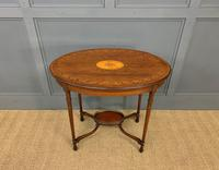 Fine Quality Oval Inlaid Mahogany Occasional Table (7 of 16)