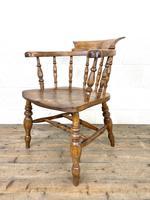 Antique Beech & Elm Smoker's Bow Chair (6 of 8)