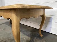 Bandy Leg French Bleached Oak Farmhouse Table (11 of 15)