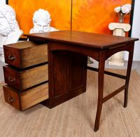 Carved Oak Desk French Writing Table Golden (9 of 15)