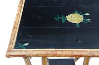 C1900 Bamboo Black Lacquer Occasional Window Table (3 of 8)