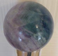 Victorian Walking Stick Cane Solid Silver Pommel Malacca Wood Shaft Fluorite Top (7 of 8)