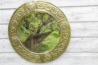 Arts & Crafts Movement Scottish / Glasgow School Circular Wall Mirror c.1900 (4 of 24)