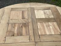 Large Round French Bleached Oak Farmhouse Table with Extensions (26 of 38)