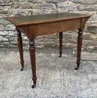 Antique Victorian Walnut Writing Table Desk (13 of 17)