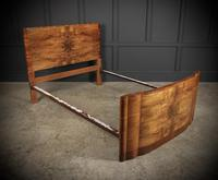 Art Deco Walnut Standard Double Bed (2 of 11)