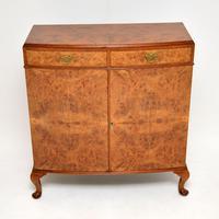 Antique Burr Walnut Two Door Cabinet (7 of 8)