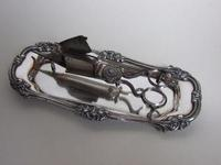 William IV Silver Close Plated Candle Snuffer & Tray (2 of 8)