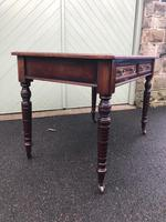 Antique Mahogany Two Draw Writing Table (6 of 11)