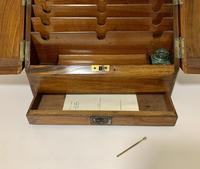 Antique Victorian Burr Walnut Desktop Stationery Cabinet (6 of 11)