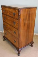Quality Burr Walnut Chest of Drawers (2 of 7)