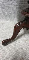 Burr Walnut Pedestal Lamp Table (2 of 8)