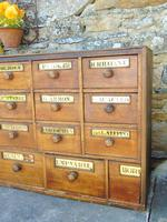 Charming Set of Antique Apothecary Drawers (8 of 10)