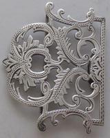 Edwardian Birmingham 1911 Hallmarked Solid Silver Nurses Belt Buckle (3 of 8)
