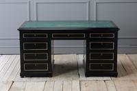 1930s French Ebonised Pedestal Desk (6 of 7)