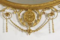 19th Century Gilt Adam Style Overmantle Mirror (13 of 13)