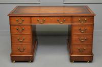 Victorian Mahogany Pedestal Desk (3 of 12)