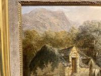 19th Century Charming Oil on Board of Welsh Mill (3 of 3)