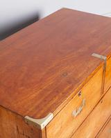19th Century Mahogany Campaign Chest with Inset Brass Handles (8 of 10)